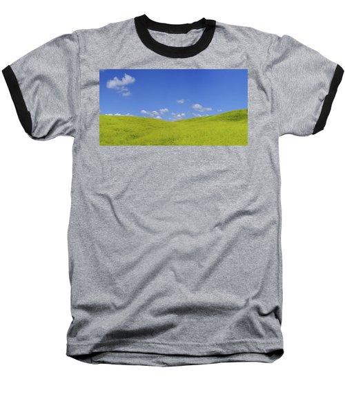 Rapeseed Landscape Baseball T-Shirt by Marius Sipa