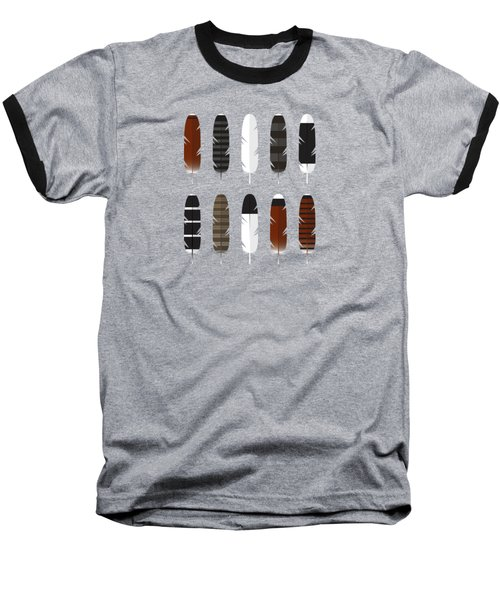 Raptor Feathers - Square Baseball T-Shirt