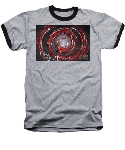Raspberry Swirls Baseball T-Shirt