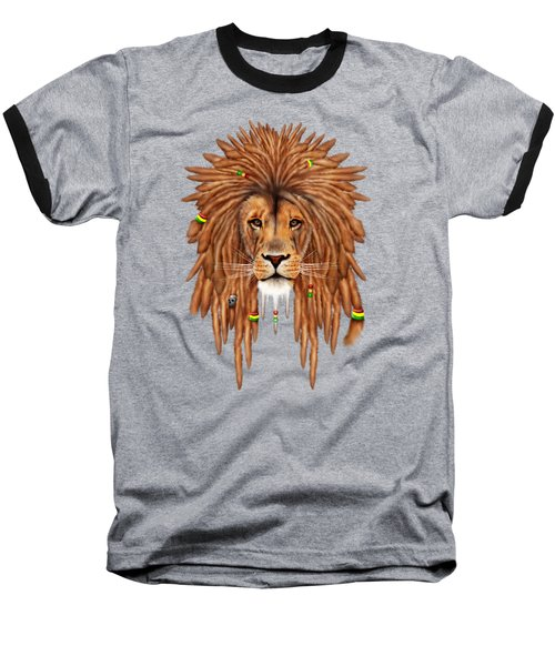 Rasta Lion Dreadlock Baseball T-Shirt