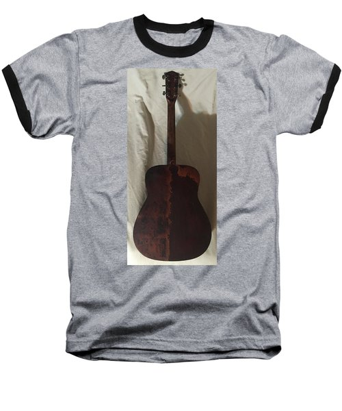 Rat Guitar 2 Back Baseball T-Shirt by Steve  Hester