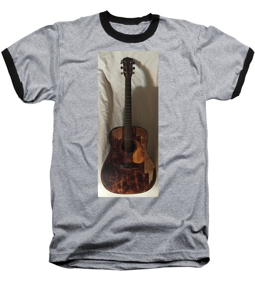 Rat Guitar 2 Front Baseball T-Shirt by Steve  Hester