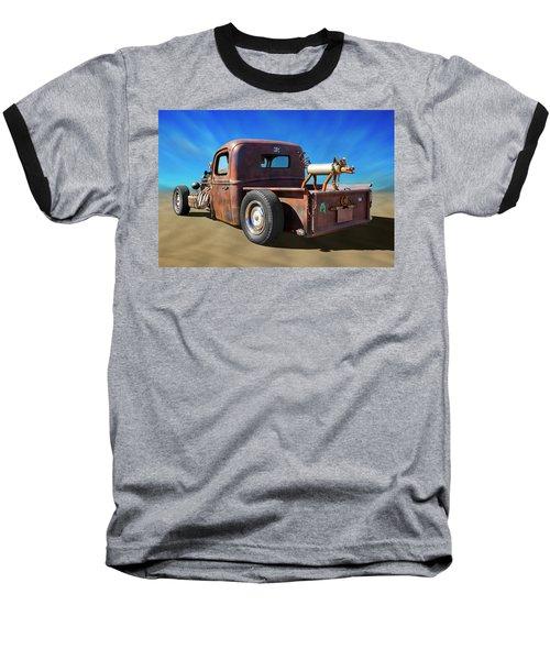 Baseball T-Shirt featuring the photograph Rat Truck On Beach 2 by Mike McGlothlen