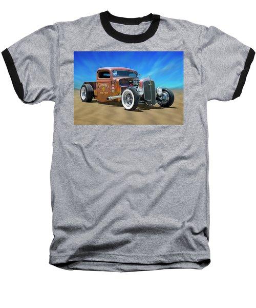 Baseball T-Shirt featuring the photograph Rat Truck On The Beach by Mike McGlothlen