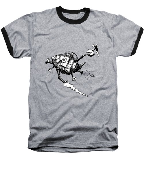 Rats In Space Baseball T-Shirt