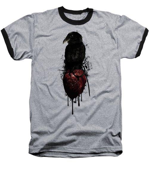 Raven And Heart Grenade Baseball T-Shirt