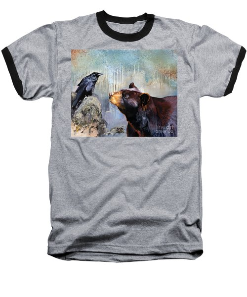 Raven And The Bear Baseball T-Shirt