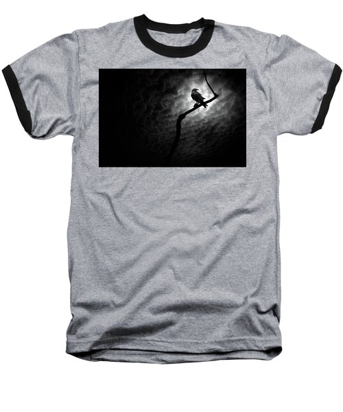 Raven, Death Valley Baseball T-Shirt by Marius Sipa