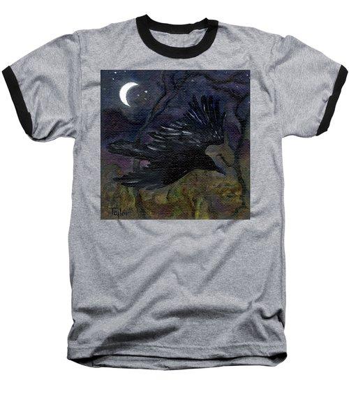 Raven In Stars Baseball T-Shirt