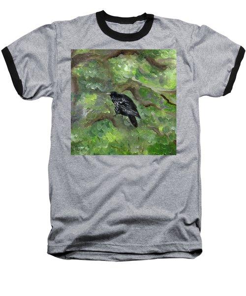 Raven In The Om Tree Baseball T-Shirt