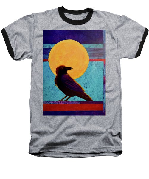 Raven Moon Baseball T-Shirt by Nancy Jolley