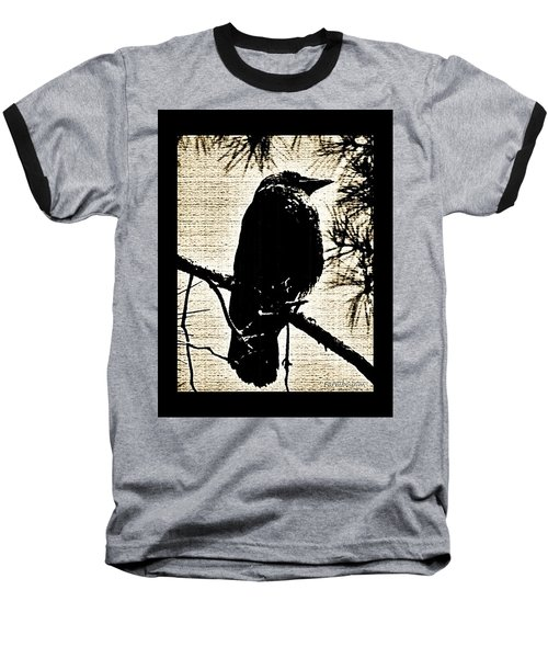 Raven On The Lookout Baseball T-Shirt