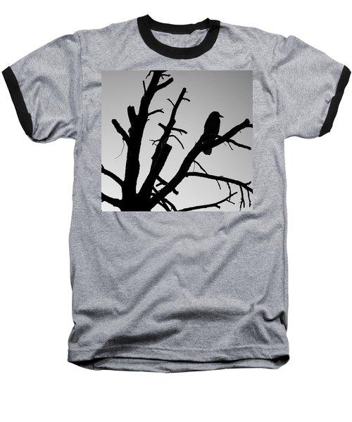 Baseball T-Shirt featuring the photograph Raven Tree II Bw by David Gordon