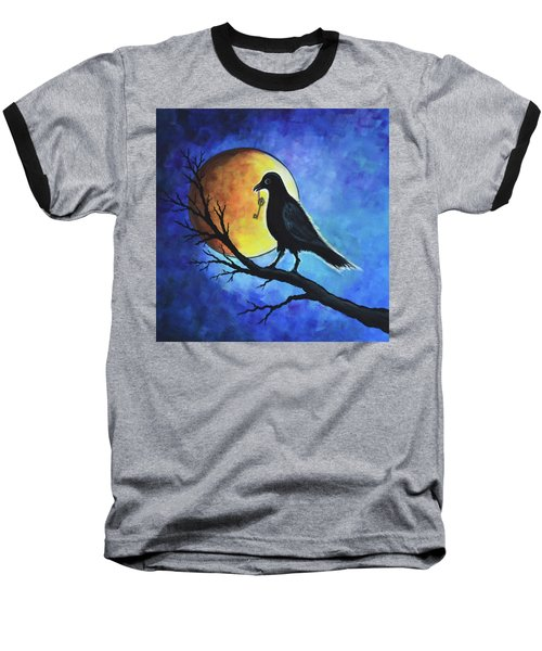 Raven With Key Baseball T-Shirt