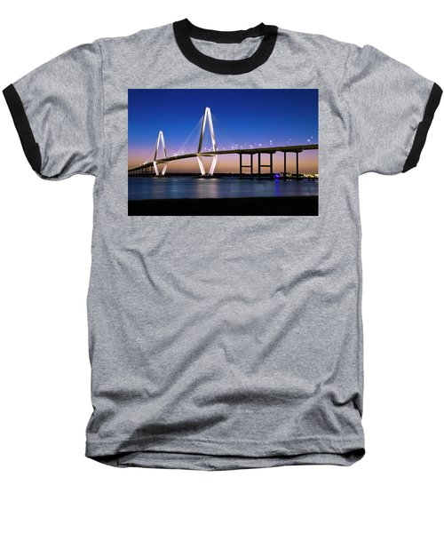 Ravenel Bridge 2 Baseball T-Shirt by Bill Barber