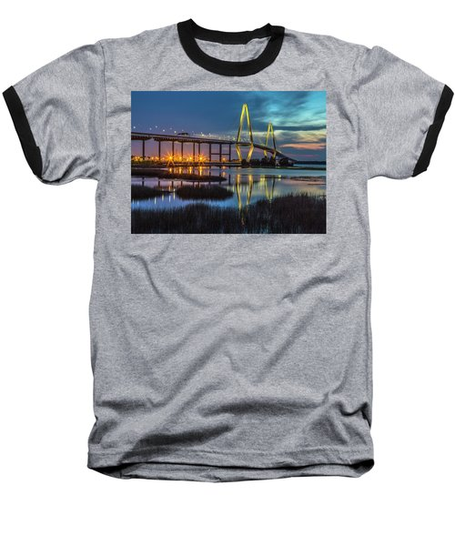 Ravenel Bridge Reflection Baseball T-Shirt
