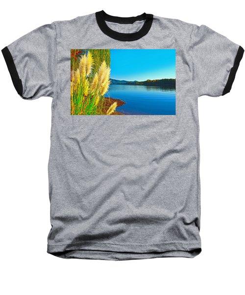 Ravenna Grass Smith Mountain Lake Baseball T-Shirt by The American Shutterbug Society