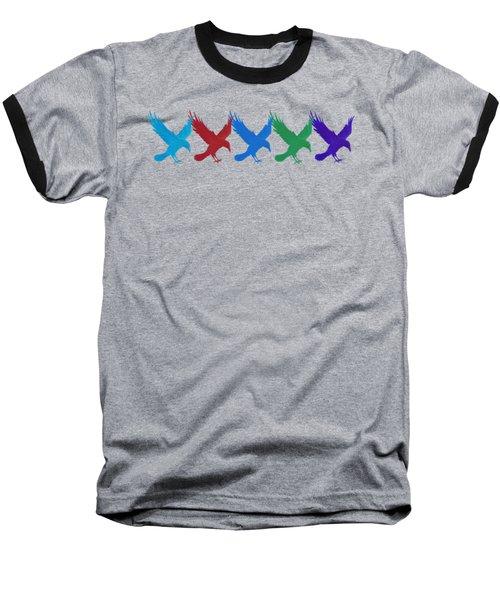 Ravens Apparel Design Baseball T-Shirt by Teresa Ascone