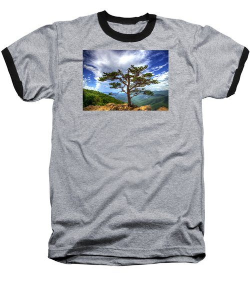 Ravens Roost Tree Baseball T-Shirt by Greg Reed