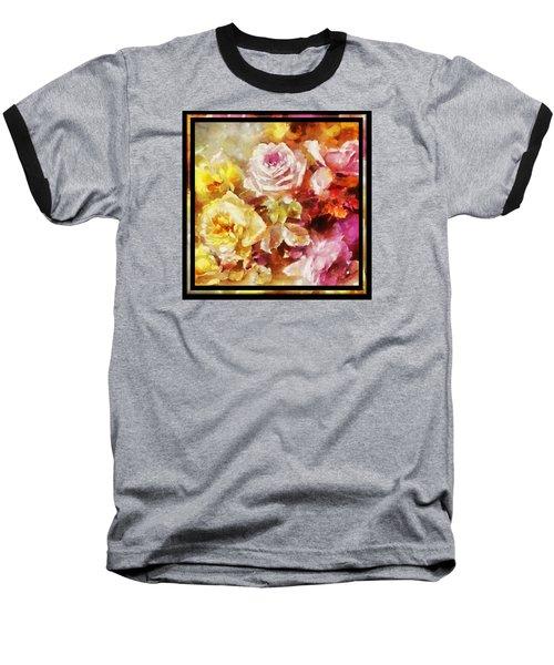 Baseball T-Shirt featuring the digital art Ravishing Roses by Charmaine Zoe