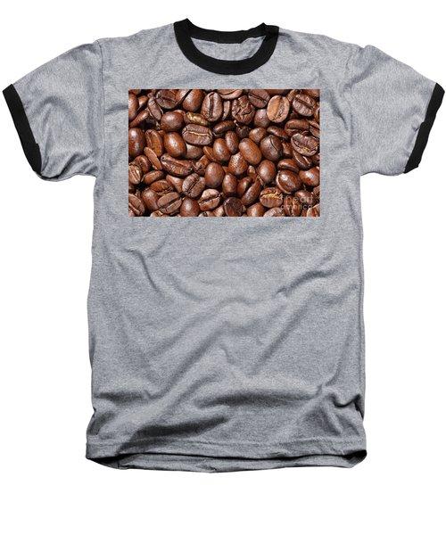 Raw Coffee Beans Background Baseball T-Shirt