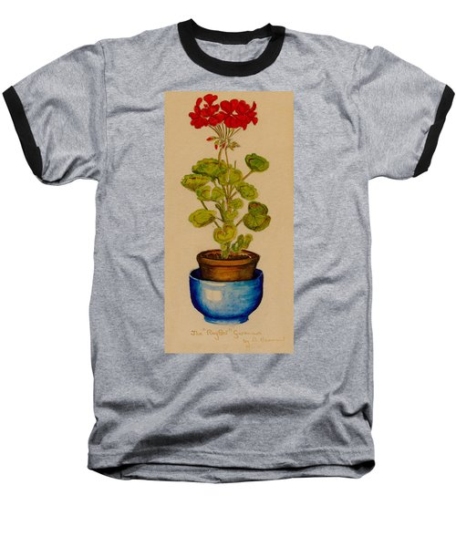 Baseball T-Shirt featuring the painting Ray-bet Geranium by Betty Hammant