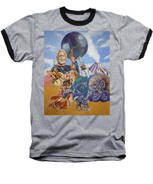 Ray Harryhausen Tribute The Mysterious Island Baseball T-Shirt by Bryan Bustard