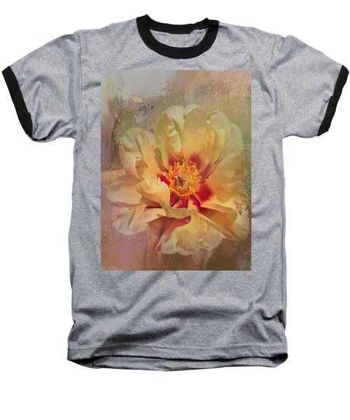 Rayanne's Peony Baseball T-Shirt by Jeff Burgess