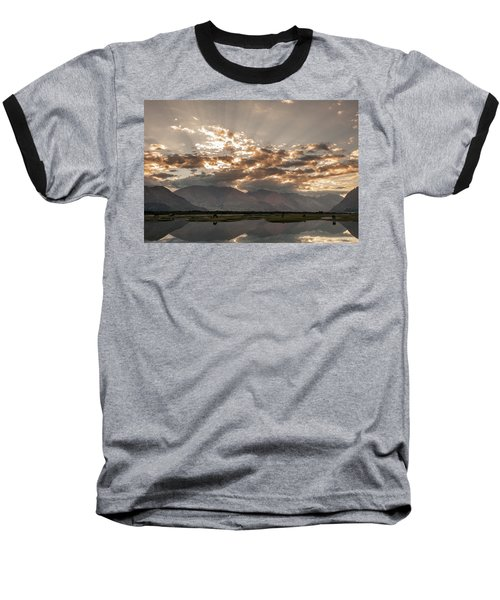 Baseball T-Shirt featuring the photograph Rays And Reflection, Hunder, 2006 by Hitendra SINKAR