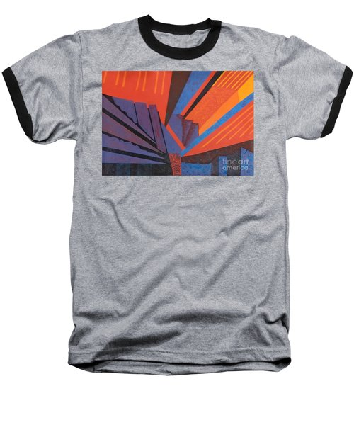 Rays Floor Cloth Baseball T-Shirt by Judith Espinoza