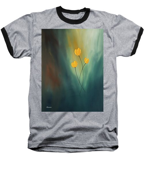Baseball T-Shirt featuring the painting Rays Of Hope by Carmen Guedez