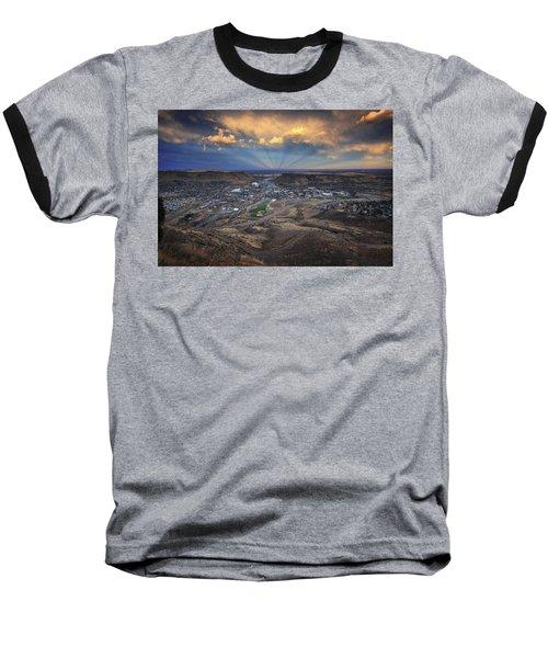 Rays Over Golden Baseball T-Shirt