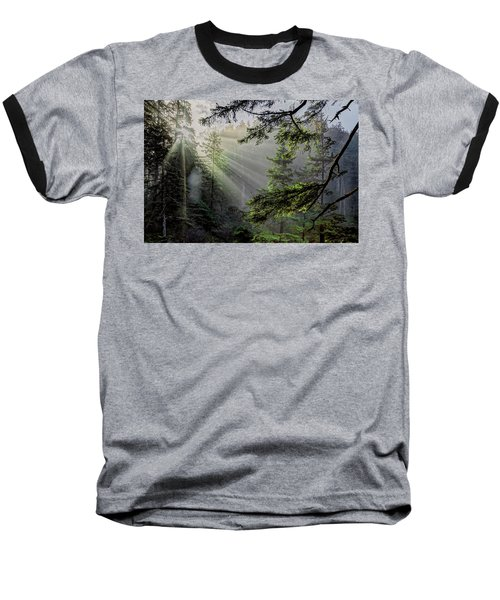 Rays Through An Oregon Rain Forest Baseball T-Shirt