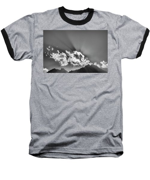 Rays Through Clouds, Keylong, 2005 Baseball T-Shirt by Hitendra SINKAR