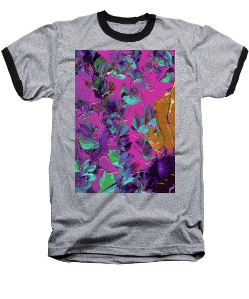Razberry Ocean Of Butterflies Baseball T-Shirt