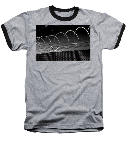 Razor Wire In The Sun Baseball T-Shirt