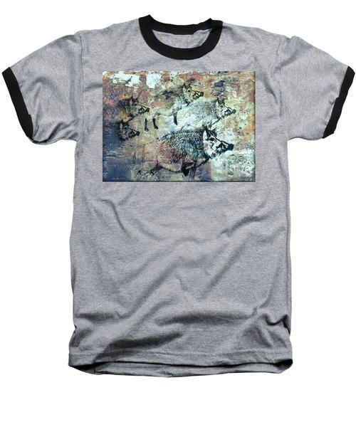 Baseball T-Shirt featuring the photograph Wild Boars by Larry Campbell