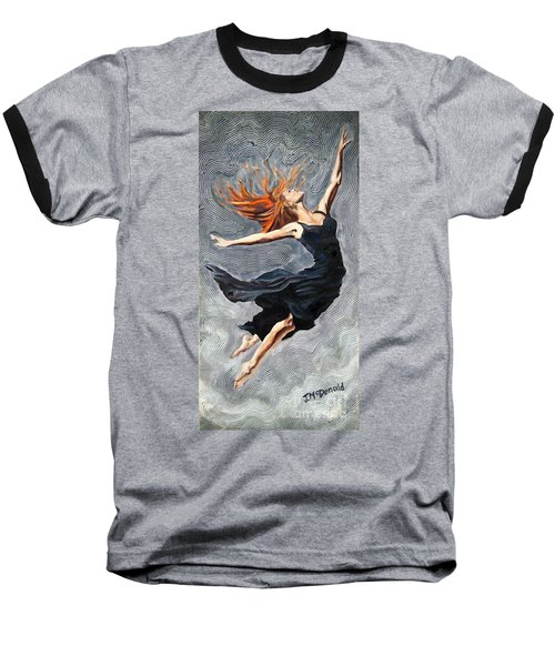 Reach For The Stars Baseball T-Shirt by Janet McDonald