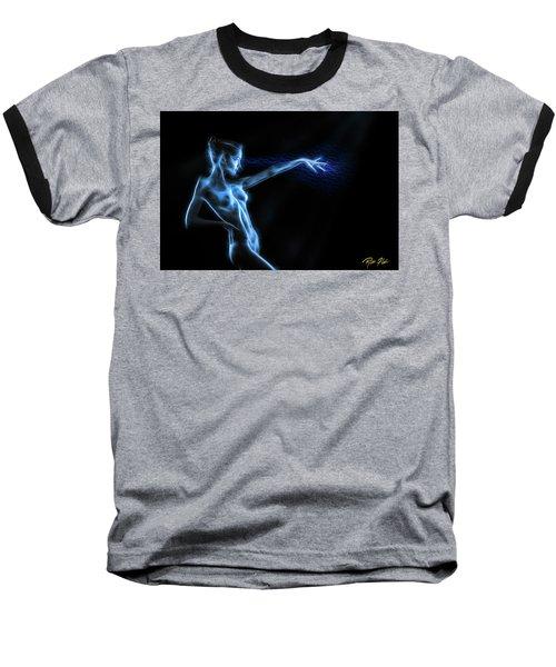 Baseball T-Shirt featuring the photograph Reaching Figure Darkness by Rikk Flohr