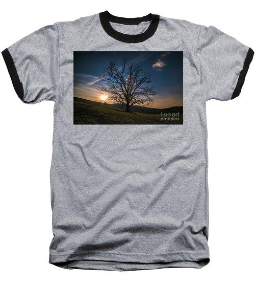 Reaching For The Moon Baseball T-Shirt by Robert Loe