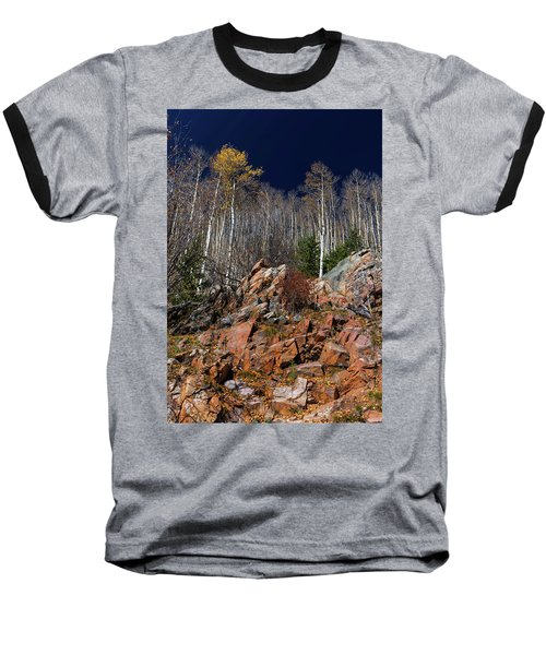 Reaching Into Blue Baseball T-Shirt by Stephen Anderson