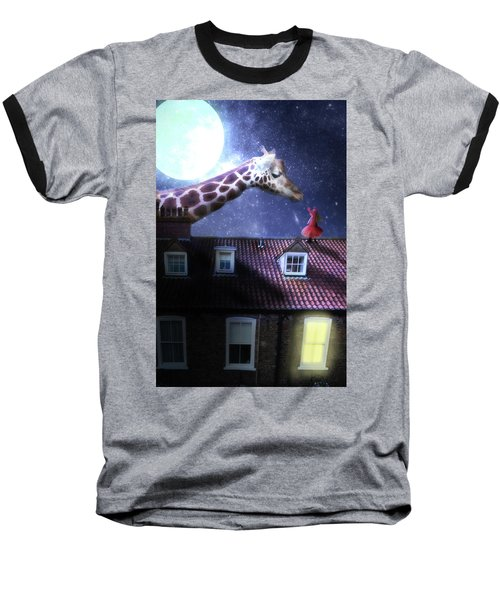 Reaching Out Baseball T-Shirt by Nathan Wright