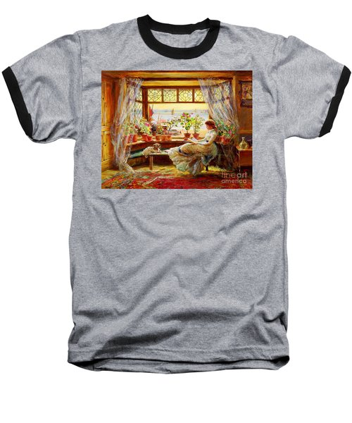 Reading By The Window Baseball T-Shirt