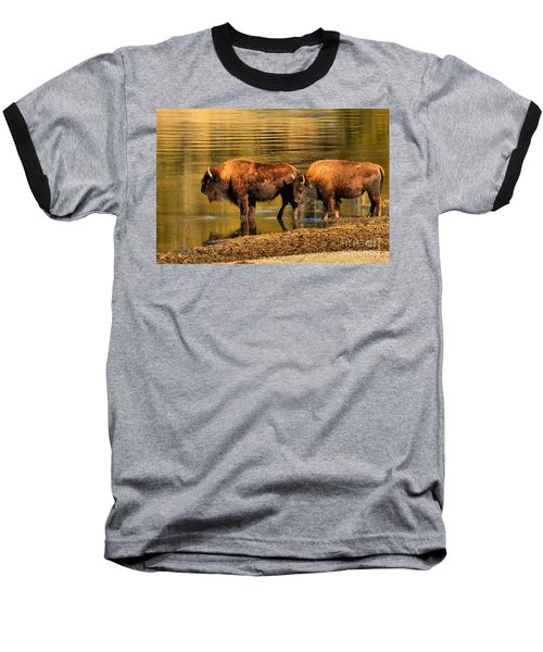 Baseball T-Shirt featuring the photograph Ready To Cross The Yellowstone by Adam Jewell