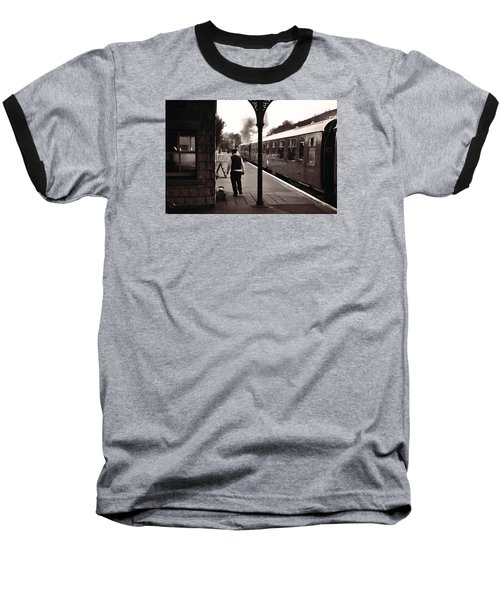 Baseball T-Shirt featuring the photograph Ready To Depart Corfe Castle Station by Nop Briex