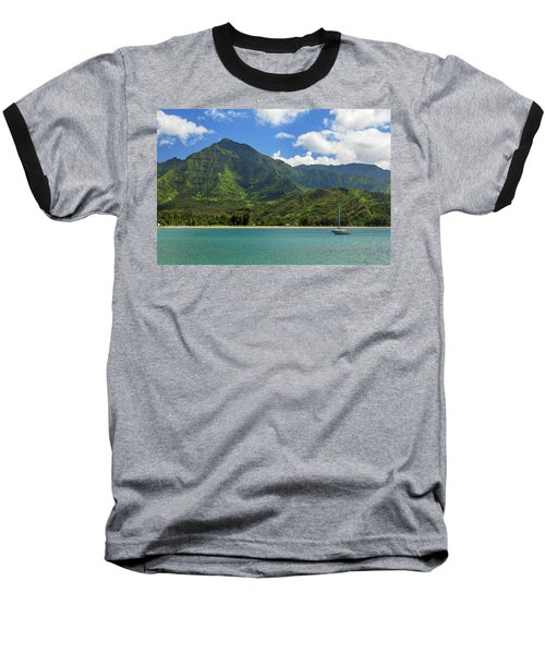 Ready To Sail In Hanalei Bay Baseball T-Shirt by James Eddy
