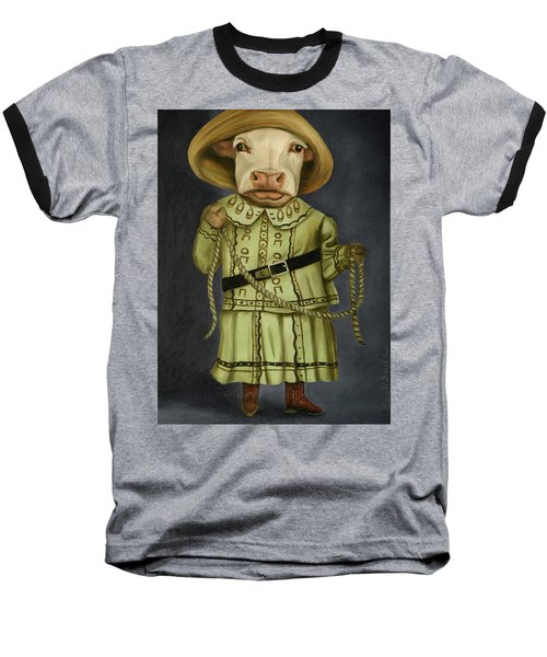 Baseball T-Shirt featuring the painting Real Cowgirl 2 by Leah Saulnier The Painting Maniac