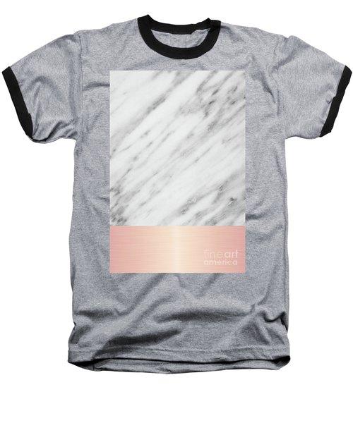 Real Italian Marble And Pink Baseball T-Shirt