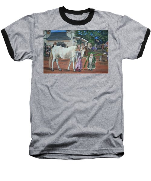 Baseball T-Shirt featuring the painting Real Life In Her Dreams by Bryan Bustard