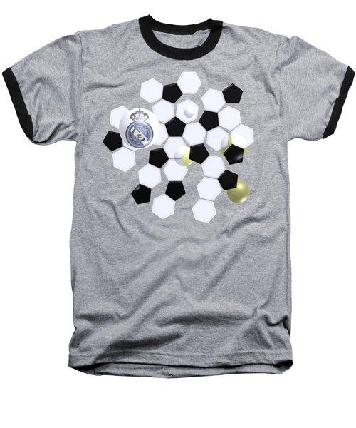Real Madrid In Football Sky Baseball T-Shirt